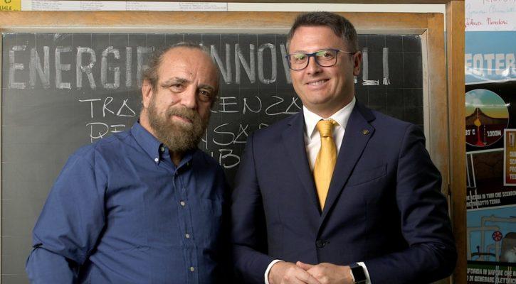 Giobbe Covatta con il Presidente Casullo